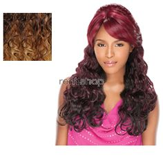 Empress Lace Front Edge Sarah (Bump Up! Style) - Color DX2688 - Synthetic (Curling Iron Safe) 2 Styles in 1 Lace Front Wig