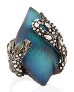 Crystal Lace Snake Ring by Alexis Bittar at Neiman Marcus.