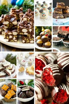 Christmas candy such as fudge, peppermint patties and caramels. Pecan Recipes, Caramel Recipes, Candy Recipes, Holiday Recipes, Fudge Recipes, Christmas Food Gifts, Christmas Candy, Christmas Baking, Homemade Sweets