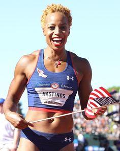 Natasha Hastings #Olympics #Fitness #NaturalHair