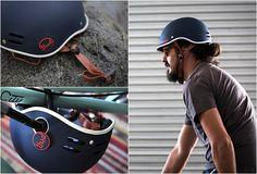 Stylish, lockable bike helmet #CycleChic