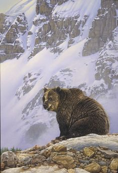 painting of a grizzly bear by Eric Wilson
