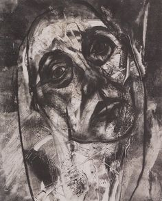 Ann Symes  Release - monoprint and charcoal (1992)