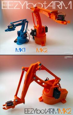 Four axis 3D printed robotic arm.