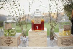 great idea for an outdoor ceremony! It'll be hot in August!