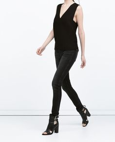 6729b9be8832f5 BLACK MID-RISE JEANS Boutique Zara