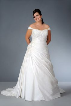 Style sv1565 Plus Size Off the Shoulder Wedding Dress
