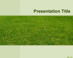 Plantilla PowerPoint de Campo Verde