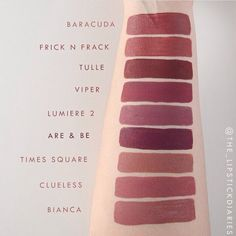 Colorpop matte lipsticks swatches