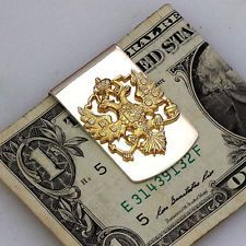 Sterling Silver Russian coat of arms Money Clip Collectible Unique Go... Lot 322