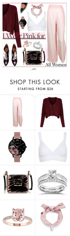 """""""I Wear Pink for /3"""" by antal-era ❤ liked on Polyvore featuring Chanel, Olivia Burton, Hanky Panky, Lanvin, Annello and Elizabeth Arden"""