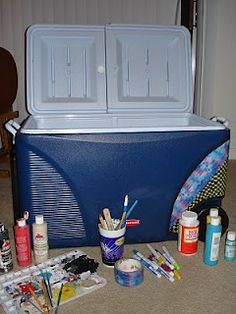 Cooler Tutorial. My Roommate is a PRO she should definitely start a blog or Etsy for hers... this is some random blog I found