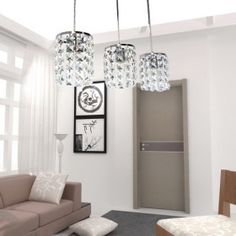 Crystal Pendant Light (with Three Lights)