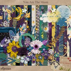 Digital Scrapbook Kit, You are the Moon by Etc Danyale & River-Rose