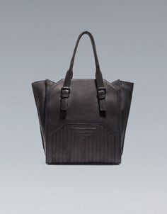 QUILTED LEATHER SHOPPER - Handbags - Woman - ZARA United Kingdom