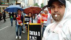 Paralisação estadual de 30/08/2016, em Curitiba. Contra o desmonte na educação pública.