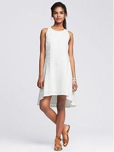 Nice Summer Dress!!  Linen Trapeze Dress
