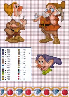 Disney Cross Stitch Patterns | Una piccola raccolta di schemi a tema cartoni animati,per far felici i ...
