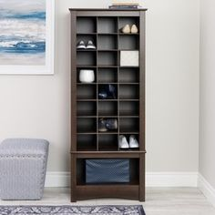 Top Product Reviews for Espresso Tall Shoe Cubbie Cabinet - Overstock.com