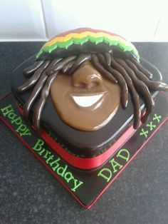 Dreadlocks rasta man cake