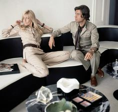 Betty and François Catroux at their Paris apartment, 1970. By Horst P. Horst/Condé Nast Archive/Getty Images.