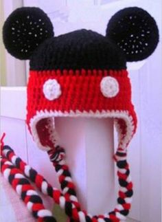 Mickey Mouse (Inspired) Hat -Crochet Hat - for Baby to Kids
