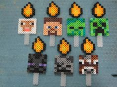 It's Mine Craft Set of 7 Birthday Party Favor Characters Cupcake Cake Toppers | eBay