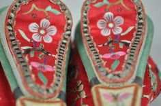 Shoes for bound feet. Body Modifications, The Past, Chinese, Museum, Girls, Clothing, Collection, Shoes, History