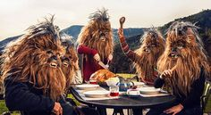 Photographer Mako Miyamoto reimagined the well-loved Chewbacca and his Wookie peers as modern-day dwellers doing everyday things like picnicking, bowling, Chewbacca, Life Pictures, Cool Pictures, Starwars, Surreal Photos, Photoshop, Netflix Streaming, The Force Is Strong, Looks Vintage