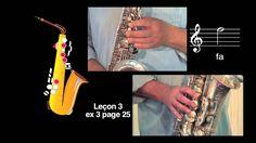 Cours de saxophone - Leçon 3 vidéo N°2