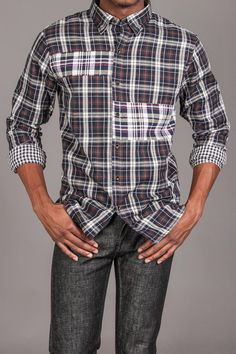 Cohesive Pinpoint Plaid L/S Woven Green/Blue