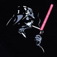 Banksy Cool Darth Vader Smoke Cigar Indie Star Wars Man T Shirt Sz M | eBay