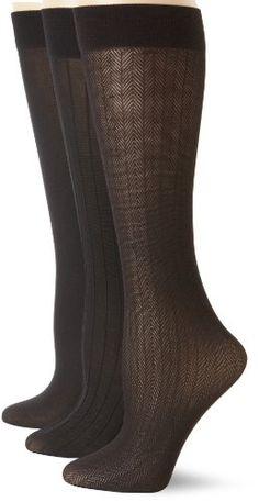 Save $7.00 on Anne Klein Women`s 3 Pack Herringbone Trouser Sock; only $13.00