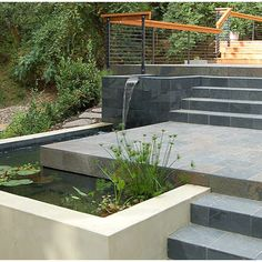 Modern Home Terrace Ponds Design Ideas, Pictures, Remodel, and Decor