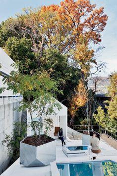 藤本壮介建築設計事務所によるHouse Kは、屋根がテラスになるユニークな住宅です。