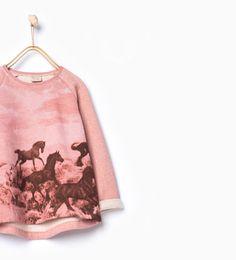 ZARA - KIDS - Horse scenery sweatshirt