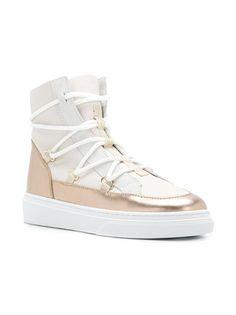 Hogan metallic sneaker boots