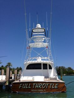 Full Throttle - 64 Enclosed Express Speed Boats, Power Boats, Offshore Boats, Sport Fishing Boats, Shrimp Boat, Boat Names, Full Throttle, Yacht Boat, Water Toys
