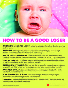 How to Be a Good Loser I By Frank Sonnenberg I #Losing