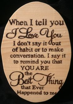 Best Thing Wood Burning Wall Plaque