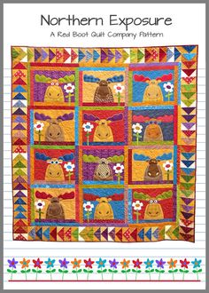 Northern Exposure quilt pattern | The Red Boot Quilt Co ... : moose quilt pattern - Adamdwight.com