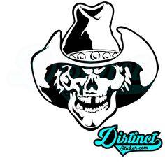 Cowboy Skull - Sticker