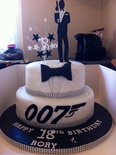 use James bond cake ideas as centrepieces