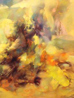 Dorothea Tanning, Tempête en jaune (Tempest in Yellow), 1956  (Detail)