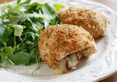 Skinny Chicken Rollatini with Prosciutto and Cheese