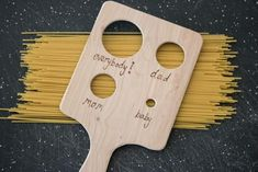 For a dad who loves gadgets, a customized pasta measuring tool is an easy and fun DIY gift this Father's Day.