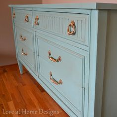 Love at Home: Antique Dresser Re-do :: How to Glaze Furniture