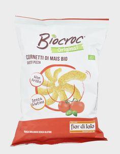 Biocroc, cornetti di mais bio - fior di loto Vegan Food, Vegan Recipes, Snack Recipes, Snacks, Chips, Products, The Originals, Appetizer Recipes, Appetizers
