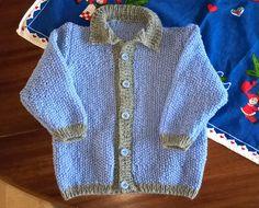 Jeg har lige strikket en trøje til Julius på knap 1 år
