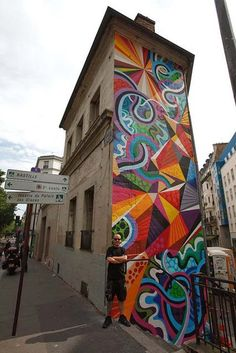 Mural by Matt W. Moore in Paris, France